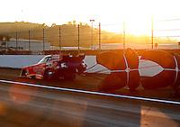 Feb 13, 2016; Pomona, CA, USA; NHRA funny car driver Bob Bode during the Winternationals at Auto Club Raceway at Pomona. Mandatory Credit: Mark J. Rebilas-USA TODAY Sports