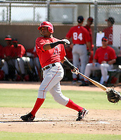 Luis Jimenez / Los Angeles Angels 2008 Instructional League..Photo by:  Bill Mitchell/Four Seam Images