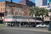 New Orleans, Louisiana.  Canal Street Street Corner at Tchoupitoulas.