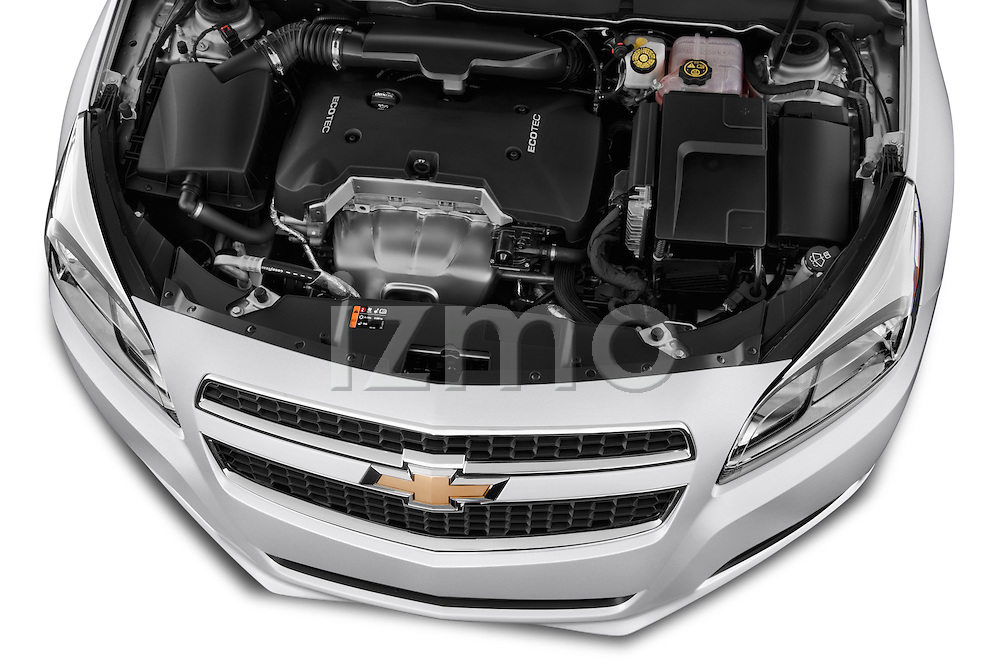 High angle engine detail of a  .2013 Chevrolet Malibu 1LS