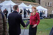 Labour MP Angela Rayner is interviewed on College Green, outside the Houses of Parliament, on the day MPs voted decisively to reject Theresa May's withdrawal deal with the EU.  Westminster, London.