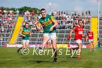 Seán O'Shea, Kerry, during the Munster GAA Football Senior Championship Final match between Kerry and Cork at Fitzgerald Stadium in Killarney on Sunday.