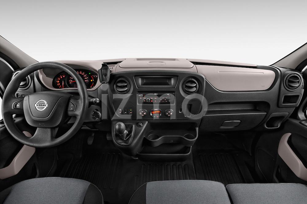 Stock photo of straight dashboard view of2015 Nissan NV 400 Business 4 Door Cargo Van Dashboard