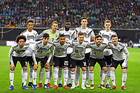 Mannschaftsfoto gegen Russland:<br /> hinten: Thilo Kehrer (Deutschland Germany), Torwart Manuel Neuer (Deutschland Germany), Antonio Rüdiger (Deutschland Germany), Niklas Süle (Deutschland Germany), Matthias Ginter (Deutschland Germany),<br /> vorn: Leroy Sane (Deutschland Germany), Kai Havertz (Deutschland Germany), Serge Gnabry (Deutschland Germany), Joshua Kimmich (Deutschland, Germany), Jonas Hector (Deutschland Germany),Timo Werner (Deutschland Germany) - 15.11.2018: Deutschland vs. Russland, Red Bull Arena Leipzig, Freundschaftsspiel DISCLAIMER: DFB regulations prohibit any use of photographs as image sequences and/or quasi-video.