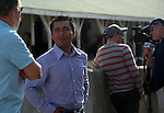 May 26, 2015 Jockey Martin Garcia breezed American Pharoah at Churchill Downs today.  ©Mary M. Meek/ESW/CSM