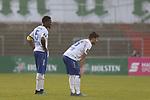 08.11.2020, Dietmar-Scholze-Stadion an der Lohmuehle, Luebeck, GER, 3. Liga, VfB Luebeck vs KFC Uerdingen 05 <br /> <br /> im Bild / picture shows <br /> Schlusspfiff, 1:0 Heimsieg fuer den VfB Lübeck/Luebeck, Assani Lukimya (KFC Uerdingen 05) und Dave Gnaase (KFC Uerdingen 05)  sind enttäuscht/enttaeuscht <br /> <br /> DFB REGULATIONS PROHIBIT ANY USE OF PHOTOGRAPHS AS IMAGE SEQUENCES AND/OR QUASI-VIDEO.<br /> <br /> Foto © nordphoto / Tauchnitz