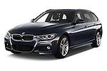 2018 BMW 3-Series 328d-Sports-Wagon 5 Door Wagon Angular Front stock photos of front three quarter view
