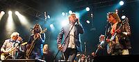 Photo by © Stephen Daniels 13/06/2015-----<br /> Rock 'N' Horse Power Concert at Hurtwood Park Polo Club, Ewhurst, Surrey for Prostate Cancer UK. ----- L/R Jim Cregan, Geoff Whitehorn, Ben Mills, Mollie Marriott, Robert Hart, Kenney Jones, Nik Kershaw, John Parr