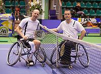 17-12-10, Tennis, Rotterdam, Reaal Tennis Masters 2010,    Ronald Vink en Peter de Bliek(R)