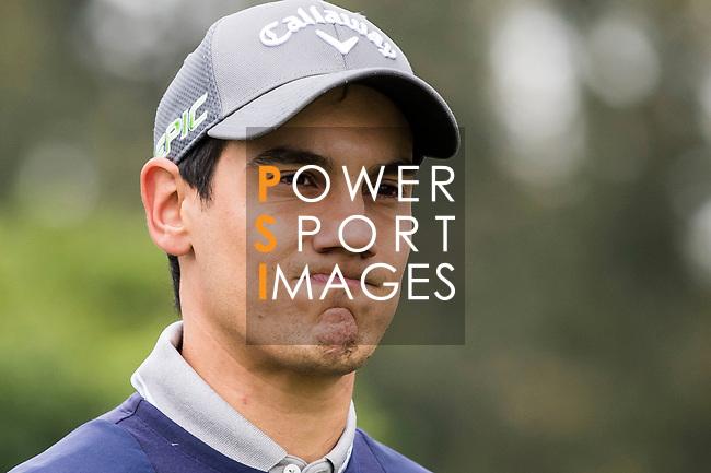Matteo Manassero of Italy reacts during the day three of UBS Hong Kong Open 2017 at the Hong Kong Golf Club on 25 November 2017, in Hong Kong, Hong Kong. Photo by Yu Chun Christopher Wong / Power Sport Images