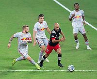 WASHINGTON, DC - SEPTEMBER 12: Federico Higuaín #2 of D.C. United dribbles during a game between New York Red Bulls and D.C. United at Audi Field on September 12, 2020 in Washington, DC.
