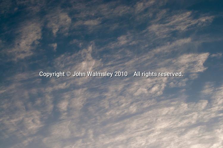 Altocumulus clouds at daybreak.