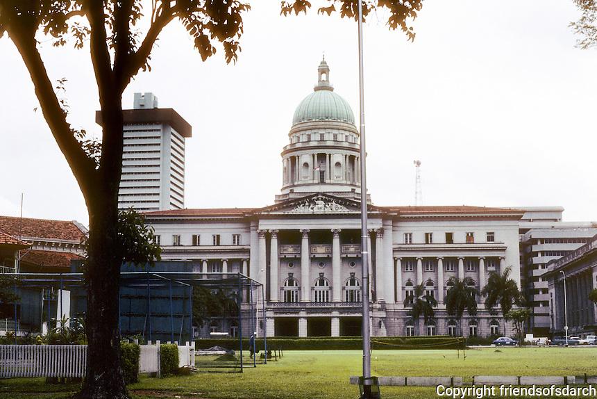 Singapore: The Old Supreme Court Building. Classical architecture--Frank Dorrington Ward of the Public Works Department, 1937-1939. Photo '82.