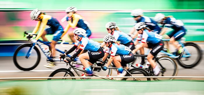 Evelyne Gagnon, Annie Bouchard, Meghan Lemiski, and Carla Shibley - Lima 2019. Para Cycling // Paracyclisme.<br /> Evelyne Gagnon, Annie Bouchard, Meghan Lemiski, and Carla Shibley competes in the road race // Evelyne Gagnon, Annie Bouchard, Meghan Lemiski, et Carla Shibley participe à la course sur route. 01/09/2019.