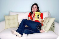 """Farnoosh Torabi in her upper west side apartment in Manhattan, NY.  Torabi's first published book, """"You're So Money, Live Rich Even When You're Not,"""" is due out next week"""