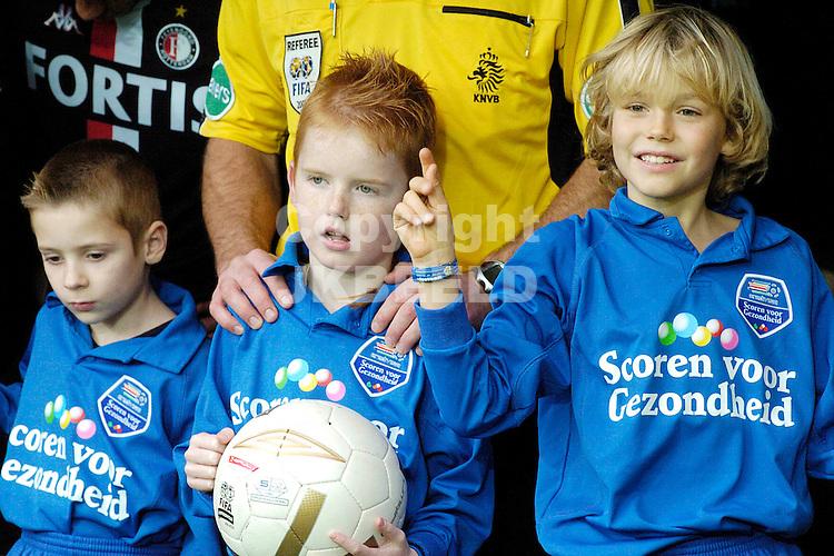voetbal, fc groningen - feyenoord  eredivisie seizoen 2007-2008 25-11- 2007 scoren voor gezondheid.fotograaf Jan Kanning *** Local Caption ***