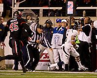 Chris Harper of California runs the ball during the game against Utah at Rice-Eccles Stadium in Salt Lake City, Utah on October 27th, 2012.   Utah Utes defeated California, 49-27.