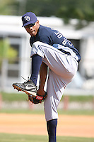 March 19th 2008:  Richard De Los Santos of the Tampa Bay Devil Rays minor league system during Spring Training at the Raymond A. Naimoli Complex in St. Petersburg, FL.  Photo by:  Mike Janes/Four Seam Images