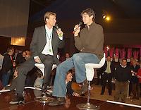 23-2-06, Netherlands, tennis, Rotterdam, ABNAMROWTT, Former tennis player Jan Siemerink Intervieuws Mario Ancic in ABNAMRO lounge