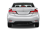 Straight rear view of a 2015 Honda Civic CNG 4 Door Sedan stock images