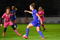 Chloe Vande Velde (10 Gent) pictured during a female soccer game between  AA Gent Ladies and Sporting Charleroi Feminin on the fifth matchday of the 2020 - 2021 season of Belgian Scooore Womens Super League , friday 16 th of October 2020  in Oostakker , Belgium . PHOTO SPORTPIX.BE | SPP | DAVID CATRY
