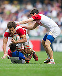 France vs Portugal during the HSBC Sevens Wold Series Bowl Quarter Finals match as part of the Cathay Pacific / HSBC Hong Kong Sevens at the Hong Kong Stadium on 29 March 2015 in Hong Kong, China. Photo by Juan Manuel Serrano / Power Sport Images