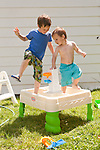 The first hot day of summer in Springfield, Ill., we discovered my sons' pool had a crack. They cooled off in their water table instead.