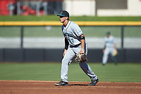 Coastal Carolina Chanticleers shortstop Cooper Weiss (7) on defense against the Duke Blue Devils at Segra Stadium on November 2, 2019 in Fayetteville, North Carolina. (Brian Westerholt/Four Seam Images)