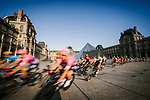 The peloton speed by the Louvre during Stage 21 of the 2019 Tour de France running 128km from Rambouillet to Paris Champs-Elysees, France. 28th July 2019.<br /> Picture: ASO/Pauline Ballet   Cyclefile<br /> All photos usage must carry mandatory copyright credit (© Cyclefile   ASO/Pauline Ballet)