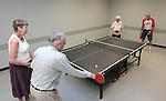 From left, Betty Young, Bill Kenson, Shirley Lang and Bob Peterson play ping pong at the Carson City Senior Citizen Center in Carson City, Nev., on Wednesday, Aug. 22, 2012..Photo by Cathleen Allison
