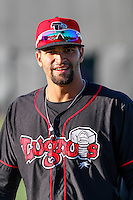 Lansing Lugnuts outfielder Josh Almonte (24) prior to a Midwest League game against the Wisconsin Timber Rattlers on April 29th, 2016 at Fox Cities Stadium in Appleton, Wisconsin.  Wisconsin defeated Lansing 2-0. (Brad Krause/Four Seam Images)