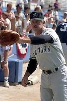 New York Yankees Catfish Hunter during spring training circa 1989.  (MJA/Four Seam Images)