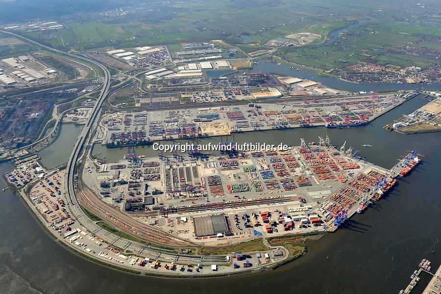 Conatiner Hafen Hamburg: EUROPA, DEUTSCHLAND, HAMBURG, (EUROPE, GERMANY), 17.04.2010 Container Hafen Hamburg.