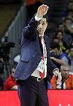 Olympiacos Piraeus' coach Giannis Sfairopoulos during Euroleague Semifinal match. May 15,2015. (ALTERPHOTOS/Acero)