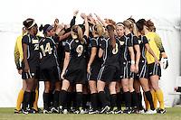 SAN ANTONIO, TX - NOVEMBER 3, 2010: The University of Nebraska Cornhuskers vs. the University of Missouri Tigers in the Big 12 Women's Soccer Championship Quarterfinals at the Blossom Soccer Stadium. (Photo by Jeff Huehn)