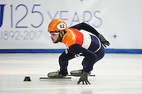 SHORT TRACK: TORINO: 14-01-2017, Palavela, ISU European Short Track Speed Skating Championships, 1500m Semifinals, Sjinkie Knegt (NED), ©photo Martin de Jong