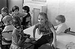 Primary school children  1970s London.