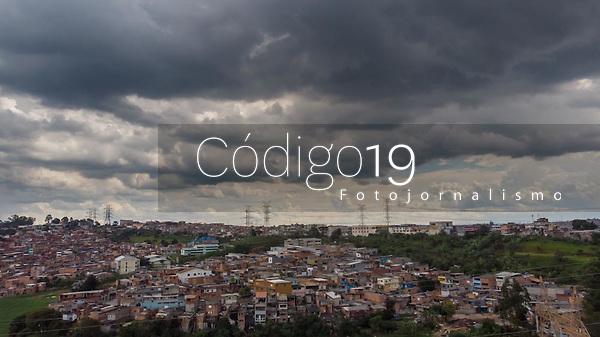 SÃO PAULO, SP, 07.03.2019: CLIMA TEMPO -SP- Vista aérea feitas de Drone, nuvens carregadas são vista na região do Grajaú, Zona Sul de São Paulo, SP, nesta tarde de quinta-feira (07). (Foto: Marivaldo Oliveira/Código19)