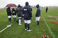Players of Haggerston Lions FC wait for the kick-off of their East London Sunday League match at Hackney Marshes - 23/11/08 - MANDATORY CREDIT: Gavin Ellis/TGSPHOTO - Self billing applies where appropriate - Tel: 0845 094 6026