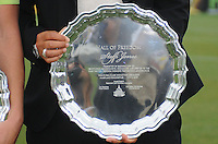 Steffi Jones (former Freedom player) receiving the induction of the Hall of Freedom. The LA Sol defeated the Washington Freedom 1-0 at the Maryland Soccerplex, Sunday July 5, 2009.