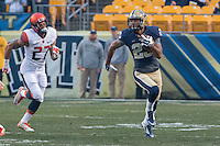 Pitt wide receiver Tyler Boyd (23). The Pitt Panthers defeated the Syracuse Orange 30-7 at Heinz Field, Pittsburgh, Pennsylvania on November 22, 2014.