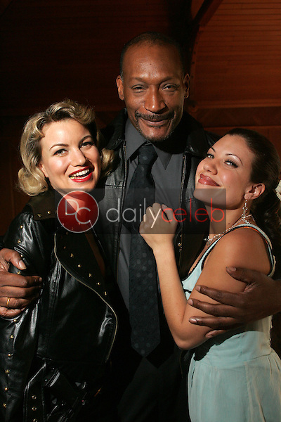 """Rena Riffel with Tony Todd and Tiffany Shepis<br />on the set of the upcoming feature film """"Dark Reel"""" slated for June 2007 release. Private Location, Altadena, CA. 11-15-06<br />Dave Edwards/DailyCeleb.com 818-249-4998<br />Exclusive"""