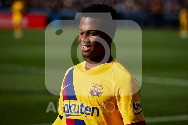 Ansu Fati of FC Barcelona during La Liga match between CD Leganes and FC Barcelona at Butarque Stadium in Leganes, Spain. November 23, 2019. (ALTERPHOTOS/A. Perez Meca)
