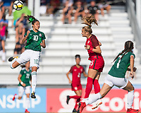Bradenton, FL - Sunday, June 12, 2018: Alison Gonzalez, Natalia Staude during a U-17 Women's Championship Finals match between USA and Mexico at IMG Academy.  USA defeated Mexico 3-2 to win the championship.