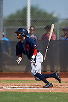 Cleveland Indians Todd Isaacs (29) during an instructional league game against the Milwaukee Brewers on October 8, 2015 at the Maryvale Baseball Complex in Maryvale, Arizona.  (Mike Janes/Four Seam Images)