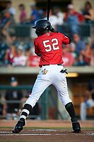 Billings Mustangs Edwin Yon (52) at bat during a Pioneer League game against the Grand Junction Rockies at Dehler Park on August 15, 2019 in Billings, Montana. Billings defeated Grand Junction 11-2. (Zachary Lucy/Four Seam Images)