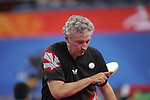 Ian Kent of Eastern Passage, N.S. plays in table tennis action at the Paralympic Games in Beijing, Sunday, Sept., 7, 2008.<br /> Photo by Mike Ridewood
