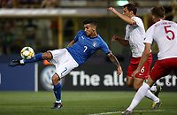 Football: Uefa under 21 Championship 2019, Italy -Poland, Renato Dall'Ara stadium Bologna Italy on June19, 2019.<br /> Italy's Lorenzo Pellegrini (l) in action with Poland's Krystian Bielik (r) during the Uefa under 21 Championship 2019 football match between Italy and Poland at Renato Dall'Ara stadium in Bologna, Italy on June19, 2019.<br /> UPDATE IMAGES PRESS/Isabella Bonotto