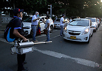 MEDELLÍN, COLOMBIA - August 4: Supporters of former President and Senator Alvaro Uribe Velez protest in cars the Supreme Court's decision against the former president on August 4, 2020. in Medellín, Colombia. The Supreme Court of Justice ordered a security measure against former President and Senator Álvaro Uribe Vélez amid fraud inquiry . (Photo by Fredy Builes/VIEWpress)