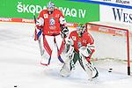 Eishockey: Deutschland – Tschechien am 01.05.2021 in der ARENA Nürnberger Versicherung in Nürnberg<br /> <br /> Tschechiens Torhüter Roman Will (Nr.35) (li) und Tschechiens Torhüter Jan Ruzicka (Nr.33) beim warm up<br /> <br /> Foto © Duckwitz/osnapix/PIX-Sportfotos *** Foto ist honorarpflichtig! *** Auf Anfrage in hoeherer Qualitaet/Aufloesung. Belegexemplar erbeten. Veroeffentlichung ausschliesslich fuer journalistisch-publizistische Zwecke. For editorial use only.